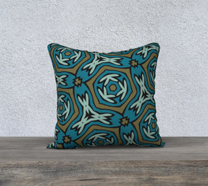 The Kylie Reversible Pillow in Greens-Clash Patterns