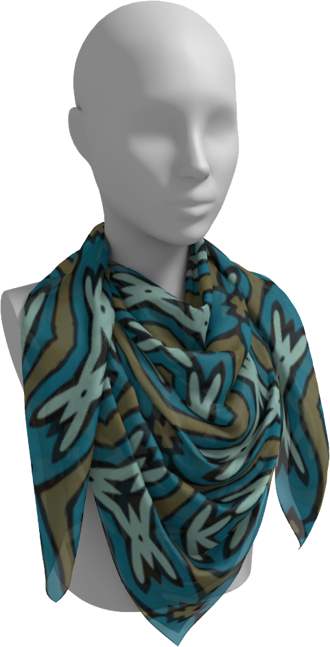 The Kylie Square Scarf in Green