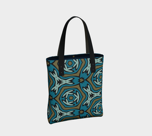 The Kylie Tote Bag-Clash Patterns