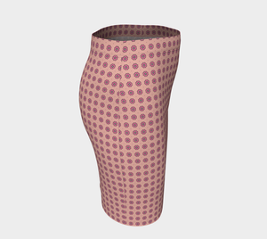 The Lindsay Fitted Skirt in Pink-Clash Patterns