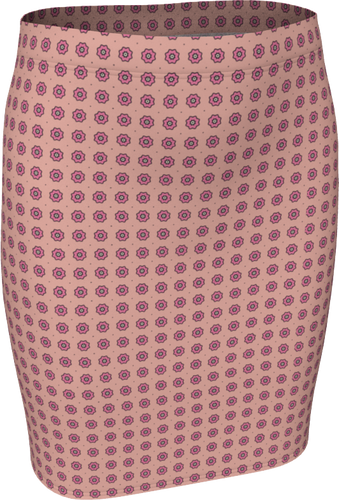 The Lindsay Fitted Skirt in Pink-Fitted Skirt-Clash Patterns by Jennifer Akkermans