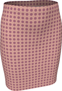 The Lindsay Fitted Skirt in Pink