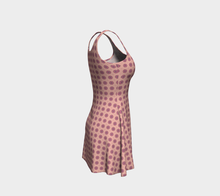 Load image into Gallery viewer, The Lindsay Flare Dress in Pink-Clash Patterns
