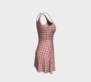 The Lindsay Flare Dress in Pink-Clash Patterns