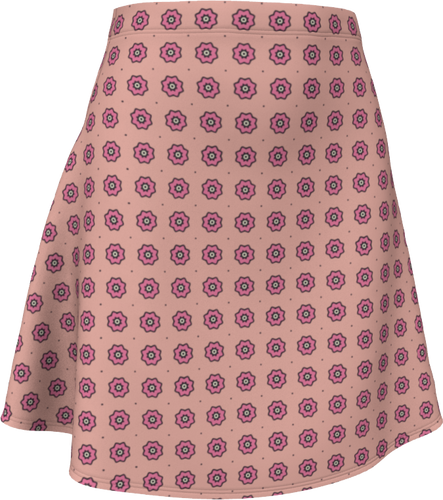 The Lindsay Flare Skirt in Pink-Flare Skirt-Clash Patterns by Jennifer Akkermans