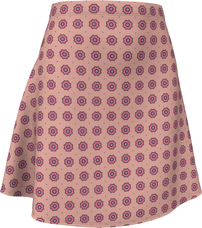 The Lindsay Flare Skirt in Pink