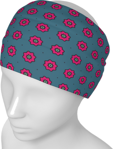The Lindsay Headband in Grey and Pink