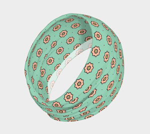 The Lindsay Headband in Mint and Peach