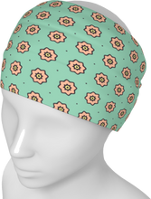 Load image into Gallery viewer, The Lindsay Headband in Mint and Peach-Headband-Clash Patterns by Jennifer Akkermans