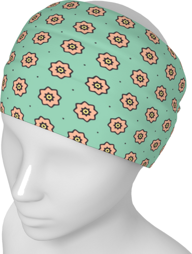 The Lindsay Headband in Mint and Peach-Headband-Clash Patterns by Jennifer Akkermans