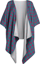 Load image into Gallery viewer, The Lindsay Kimono in Grey and Pink-Draped Kimono-Clash Patterns by Jennifer Akkermans