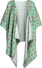 Load image into Gallery viewer, The Lindsay Kimono in Mint and Peach-Draped Kimono-Clash Patterns by Jennifer Akkermans
