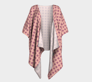 The Lindsay Kimono in Pink-Clash Patterns