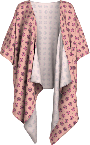 The Lindsay Kimono in Pink-Draped Kimono-Clash Patterns by Jennifer Akkermans