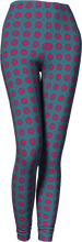 Load image into Gallery viewer, The Lindsay Leggings in Grey and Pink-Leggings-Clash Patterns by Jennifer Akkermans