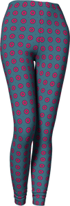 The Lindsay Leggings in Grey and Pink-Leggings-Clash Patterns by Jennifer Akkermans
