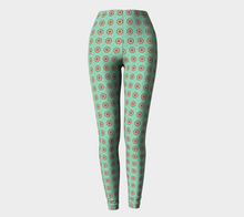 Load image into Gallery viewer, The Lindsay Leggings in Mint and Peach-Clash Patterns