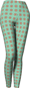 The Lindsay Leggings in Mint and Peach