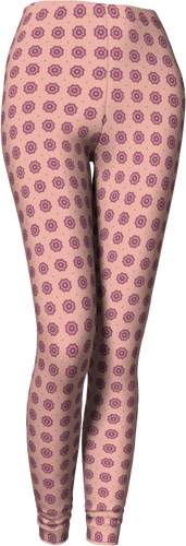 The Lindsay Leggings in Pink-Leggings-Clash Patterns by Jennifer Akkermans