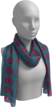 Load image into Gallery viewer, The Lindsay Long Scarf in Grey and Pink-Long Scarf-Clash Patterns by Jennifer Akkermans