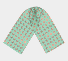 Load image into Gallery viewer, The Lindsay Long Scarf in Mint and Peach-Clash Patterns