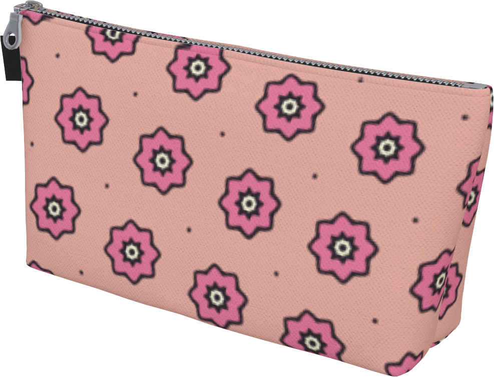 The Lindsay Makeup Bag in Pink