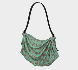 The Lindsay Origami Bag in Mint and Peach-Clash Patterns