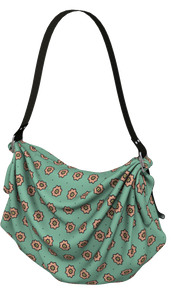 The Lindsay Origami Bag in Mint and Peach