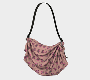 The Lindsay Origami Bag in Pink-Clash Patterns