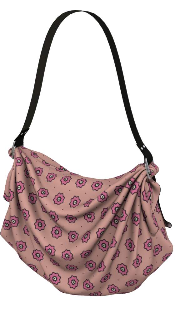 The Lindsay Origami Bag in Pink