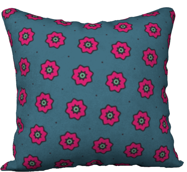 The Lindsay Reversible Pillow in Grey and Pink-18