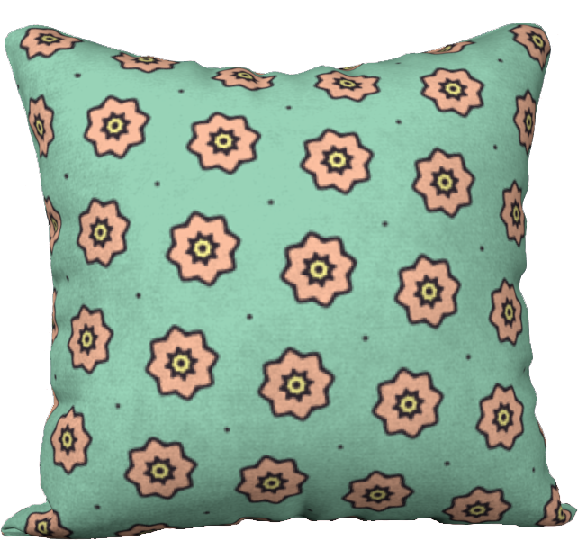 The Lindsay Reversible Pillow in Mint and Peach-18