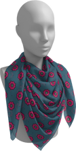 Load image into Gallery viewer, The Lindsay Square Scarf in Grey and Pink-Square Scarf-Clash Patterns by Jennifer Akkermans