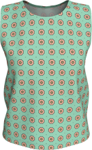 Load image into Gallery viewer, The Lindsay Tank Top in Mint and Peach-Loose Tank Top (Regular)-Clash Patterns by Jennifer Akkermans
