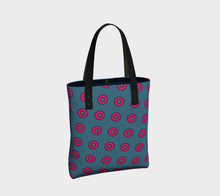 Load image into Gallery viewer, The Lindsay Tote Bag in Grey and Pink-Clash Patterns