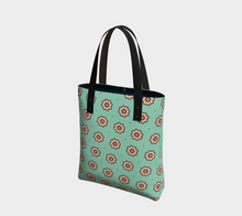 Load image into Gallery viewer, The Lindsay Tote Bag in Mint and Peach-Clash Patterns