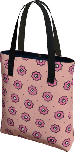 The Lindsay Tote Bag in Pink-Tote Bag-Clash Patterns by Jennifer Akkermans