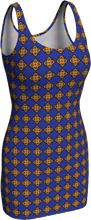 Load image into Gallery viewer, The Lorraine Fitted Dress in Navy and Ochre
