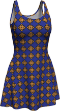 Load image into Gallery viewer, The Lorraine Flare Dress in Navy and Ochre