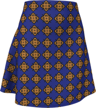Load image into Gallery viewer, The Lorraine Flare Skirt in Navy and Ochre