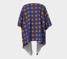 Load image into Gallery viewer, The Lorraine Kimono in Navy and Ochre-Clash Patterns