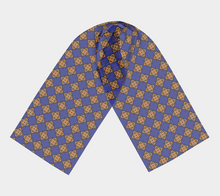 Load image into Gallery viewer, The Lorraine Long Scarf in Navy and Ochre