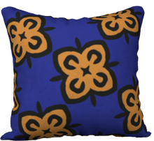 Load image into Gallery viewer, The Lorraine Reversible Pillow in Navy and Ochre