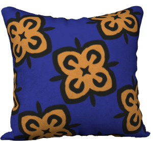 The Lorraine Reversible Pillow in Navy and Ochre