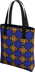 The Lorraine Tote Bag in Navy and Ochre
