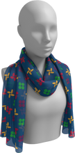 Load image into Gallery viewer, The Louise Long Scarf in Blue