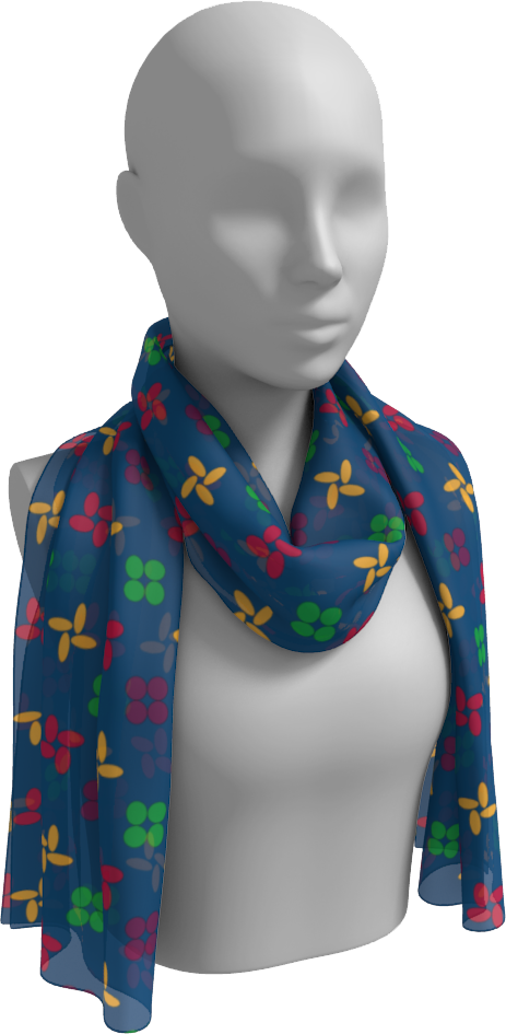 The Louise Long Scarf in Blue