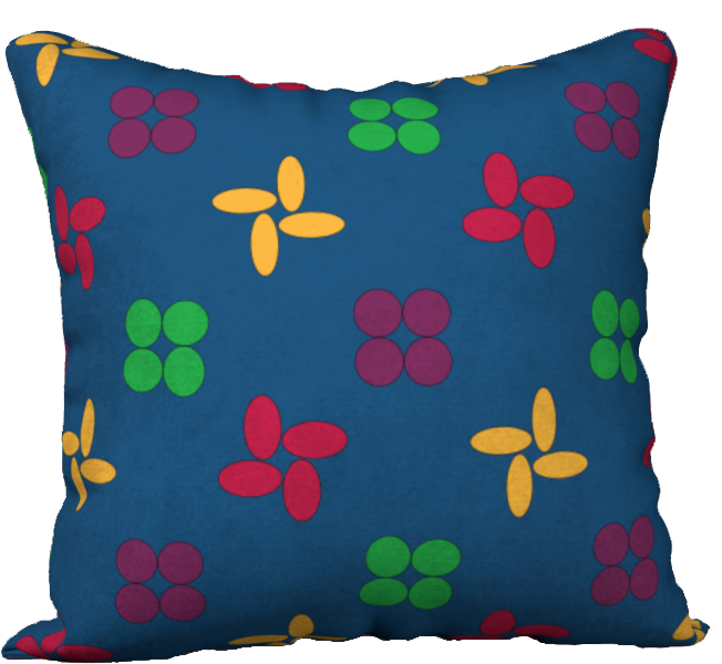 The Louise Reversible Pillow in Blue