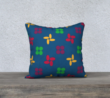 Load image into Gallery viewer, The Louise Reversible Pillow in Blue-Clash Patterns