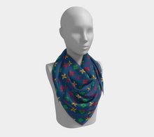 Load image into Gallery viewer, The Louise Square Scarf in Blue